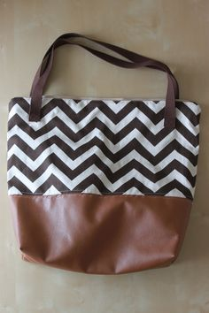 Leather Bottom Tote Tutorial - see kate sew