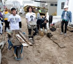 My Heroes - Fall Out Boy helping clean up after hurricane Sandy.