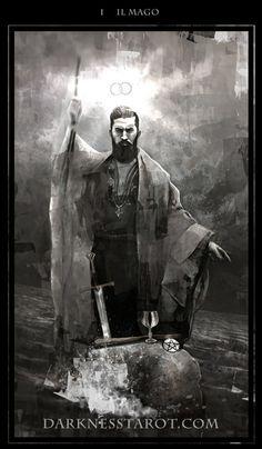 The Magician. darknesstarot.com #tarot #tonydimauroart #themagician…