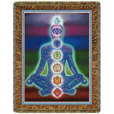Chakra Man Energy Tapestry Throw Blanket   #yoga #blanket #healing #meditation #home #homedecor #decorating #reiki #spa #salon #healing #chakraman #energy #chakra