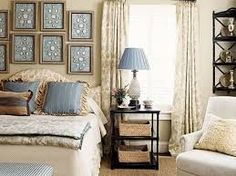Blue and Cream Bedroom