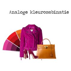 Analoge kleurcombinatie by justbeautiful on Polyvore featuring mode, Lanvin, Gianvito Rossi and Hermès