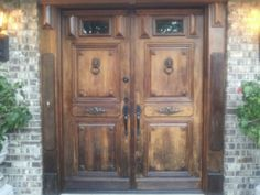 French front-doors...solid black walnut...Chicago-land...lovely...!