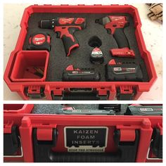 """107 Likes, 3 Comments - E.G. Perkins (@perkins_woodwork) on Instagram: """"Thanks @kaizen_inserts for keeping my most used organized! So pretty! #milwaukee #nbhd…"""""""