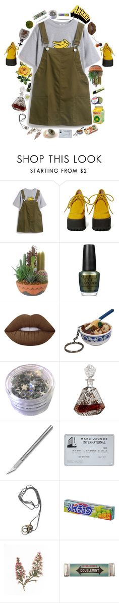 """""""Rough Love - Melanie Martinez"""" by seungvie ❤ liked on Polyvore featuring Jeffrey Campbell, OPI, Lime Crime, sOUP, Rosebud Perfume Co. and Miss Bibi"""