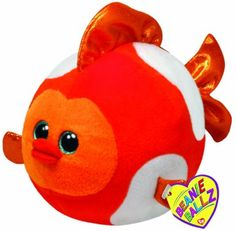 Ty Beanie Ballz Bubbles Fish