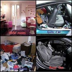 boy's room, girls car. i promise i have some good qualities haha