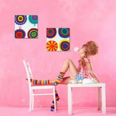 Set of two Marimekko Lappuliisa Fabric Wall Art