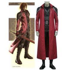 Final Fantasy VII Genesis Rhapsodos Cosplay Costume