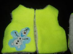 Fluorescent  Yellow Resversable Vest and Hat for by Jusadreamin