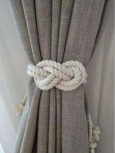 Rope Curtain Tie Back Nursery Curtain Gypsy Décor Boho Window Accessories Rope Curtain Tie Back Curtain Hooks Curtain Holdback Rustic TieBacks Cotton or jute macrame tie back is perfect home decor Rustic decor is hand made of eco materials. At photo Long Cute Curtains, Nursery Curtains, How To Make Curtains, Rustic Curtains, Coastal Curtains, Curtains With Hooks, Beach Curtains, Nautical Curtains, Cottage Curtains