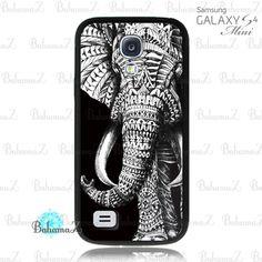 Ornate Elephant Samsung Galaxy S4 Mini Case | Bahamaz - Accessories on ArtFire