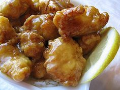 Lemon chicken... I havent been able to find this in any Chinese restaurant anywhere in Indiana...so I guess I'm just going to have to make it myself    # Pin++ for Pinterest #