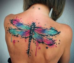 Women-Back-Dragonfly-Tattoo-Designs.jpg (650×564)