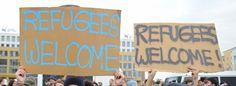 """Blog """"1000 Mal Willkommen"""" grüßt Flüchtlinge mit Plakatfotos"""