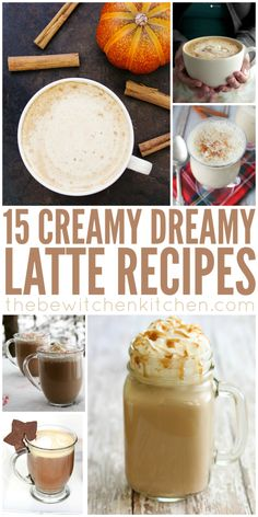 15 latte recipes just in time for fall. There's a latte recipe for everyone in this post, I can't wait to try #6 or the Sweet Potato one!