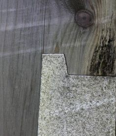Wood to stone...a close up...