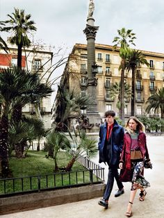The Fashion Journalist: Editorial: 'Day Tripping' in Barcelona Sasha Pivovarova by Mario Testino for Vogue US May 2014