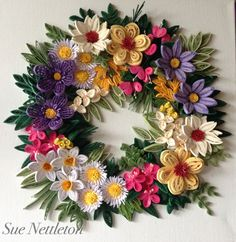 My first attempt at a quilled wreath.