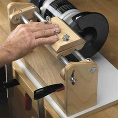 Hollow grind jig #woodworkingbench