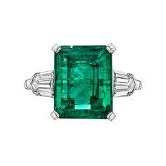 5.00 Carat Colombian Emerald Diamond Ring | 1stdibs.com