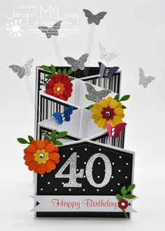 Splotch Design - Jacquii McLeay - Stampin Up Cascade Birthday Card