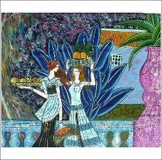 Original Oil On Canvas 'An Exotic Garden' on eBid United Kingdom Garden S, Oil On Canvas, United Kingdom, Exotic, Auction, Hand Painted, The Originals, Gallery, Board