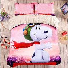 Cute Duvet Covers, Duvet Cover Sets, Snoopy Blanket, Hello Kitty Bed, Kids Nap Mats, Snoopy Images, Cute Bedding, Bedding Sets, Queen Sheets