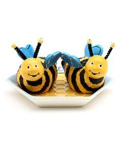 Bee Hive Salt & Pepper Shaker Set by Sugar High Social #zulily #zulilyfinds