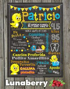 Blackboard / birthday Roblesames hen slate / Galinha by LunaberryMonterrey | Etsy