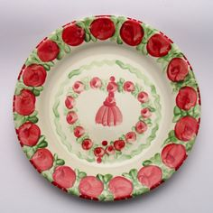 usama Decorative Plates, Tableware, Kitchen, Design, Home Decor, Red, Green, Tablewares, Dinnerware