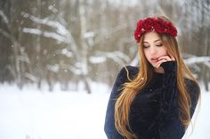 """The dressing-rim on the head with burgundy roses """"Vine"""" headband russian style"""