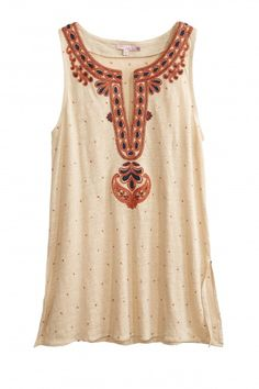 Thera Sequin Embellished Linen Tank  d779cafa70f