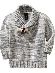 Marled Toggle-Front Sweaters for Baby boy. This is very cute
