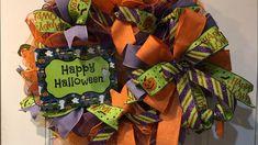 How to make a Ruffle Halloween wreath - YouTube Halloween Diy, Happy Halloween, Halloween Wreaths, Deco Mesh Wreaths, Photo Tutorial, Holiday Wreaths, Seasons, Make It Yourself, Supply List