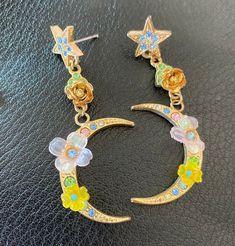 Kirks Folly Crescent Moon Pierced Earrings Vintage Jewellery | Etsy Vintage Earrings, Vintage Jewelry, Unique Jewelry, Pierced Earrings, Drop Earrings, Moon Shapes, Lovely Shop, Crochet Earrings, Best Gifts