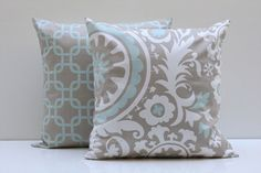 thinking about getting these to girlify my living room :) Duck Egg Blue Living Room, Taupe Living Room, Taupe Bedroom, Living Room Color Schemes, My Living Room, Living Room Designs, Taupe Color Schemes, Taupe Color Palettes, Taupe Colour