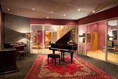 The main live room with Yamaha Grand Piano at Studio 1, Livingston London Recording Studios http://milocobuilds.com/client/livingston-studios/