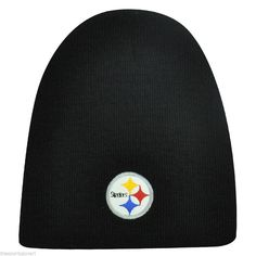 Pittsburgh Steelers Black Cuffless Knit Hat #PittsburghSteelers Visit our website for more: www.thesportszoneri.com