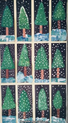 Les sapins année nadal christmas crafts for kids, christmas crafts y . Winter Art Projects, Winter Crafts For Kids, Christmas Projects, Craft Projects, Winter Diy, Winter Project, Preschool Christmas, Christmas Activities, Christmas Art For Kids