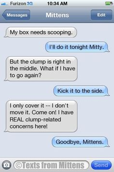 Texts from Mittens Funny Text Memes, Text Jokes, Funny Text Messages, Funny Fails, Funny Texts, Funny Quotes, Phone Messages, Dog Texts, Epic Texts