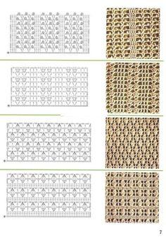 Watch This Video Beauteous Finished Make Crochet Look Like Knitting (the Waistcoat Stitch) Ideas. Amazing Make Crochet Look Like Knitting (the Waistcoat Stitch) Ideas. Crochet Stitches Chart, Crochet Motifs, Crochet Diagram, Filet Crochet, Knitting Stitches, Crochet Lace, Crochet Patterns, Knitting Wool, Crochet Ideas