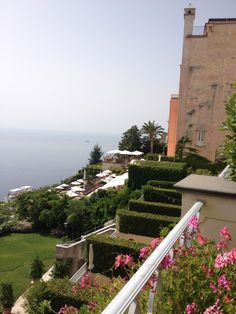 Beautiful gardens only add to the luxurious atmosphere of this first-class hotel in Ravello.