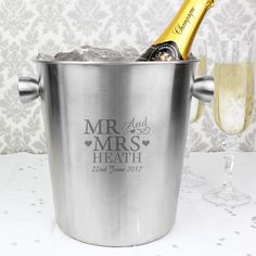 MR & MRS Ice Bucket - £36.99 these make gorgeous weddings, anniversary, 11th Anniversary - Steel or house warming gifts! Order on our website or inbox us - https://www.all-things-interior.co.uk/collections/wine-cooler/products/mr-mrs-luxe-ice-bucket?utm_content=buffer7e47d&utm_medium=social&utm_source=pinterest.com&utm_campaign=buffer #steelweddinganniversary #11thweddinganniversary #weddinganniversarygift #weddinggift #housewaminggift #icebucketgift
