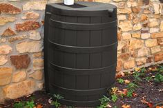 Rain Wizard 40 gallon - When drought sets in and rain is short, rain barrels can provide that precious water you need for your lawn and garden. $99.95
