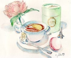 ParisienTea Container    By Paris Breakfast (Carol Gillott )