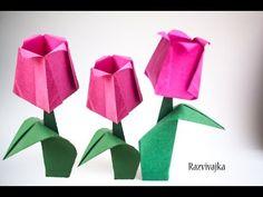 Оригами. Origami. Тюльпан оригами/ Tulip origami 折り紙, 종이 접기
