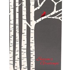 Cardinal Birch Trees Holiday Greeting Cards | On The Ball Promotions