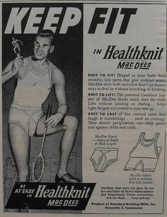 1940s Healthknit Mac Dee Bottoms Briefs Men's Vintage Underwear Advertisement Illustration 2 by Christian Montone, via Flickr