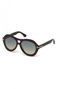 b0e3760b2d4e Tom Ford - Islay Dark Havana Geometric Sunglasses (FT0514)
